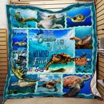Sea Turtle And Into The Ocean I Go To Lose My Mind And Find My Soul Quilt Blanket Great Customized Blanket Gifts For Birthday Christmas Thanksgiving