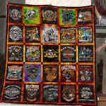 Hog - Harley Davidson Quilt Blanket