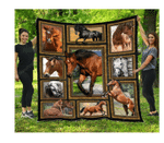Horse Photography Art Collection Quilt Blanket Great Customized Blanket Gifts For Birthday Christmas Thanksgiving