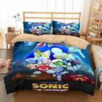 3d Sonic The Hedgehog Movie Duvet Cover Bedding Set