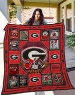 Ncaa Georgia Bulldogs Quilt Blanket #865