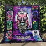 Owl I Love You To The Moon And Back Quilt Blanket Great Customized Blanket Gifts For Birthday Christmas Thanksgiving