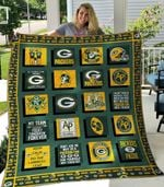 Green Bay Packers Quilt Blanket 05