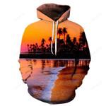Dusk At Hawaii Beach 3D – 3D Hoodie For Men Women All Over 3D Printed Hoodie