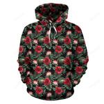 Flower Hawaiian Red Hibiscus Design Print Pullover 3D Hoodie For Men Women All Over 3D Printed Hoodie
