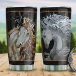 White Horse Tumbler Cup Unique Horse Stainless Steel Vacuum Insulated Tumbler 20 Oz Great Gifts For Birthday Christmas Thanksgiving Best Gifts For Horse Lovers Travel Tumbler