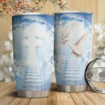 Dove Faith Tumbler Cup Christian Cross Widely Sky Stainless Steel Vacuum Insulated Tumbler 20 Oz Great Gifts For Birthday Christmas Thanksgiving Coffee/ Tea Tumbler With Lid Travel Tumbler