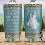 Faith Catholic Personalized Tumbler Cup Blessed Art You Among Women Stainless Steel Vacuum Insulated Tumbler 20 Oz Great Gifts For Christmas Unique Gifts For Friends Relatives Coffee/ Tea Tumbler