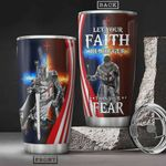 Faith Warrior Tumbler Cup Let Your Faith Be Bigger Than Your Fear Stainless Steel Vacuum Insulated Tumbler 20 Oz Great Gifts For Birthday Christmas Thanksgiving Travel Tumbler With Lid