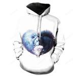Heart Wolves 3D Sweatshirt Hoodie Pullover
