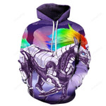 Robot Unicorn Fantasy 3D Sweatshirt Hoodie Pullover