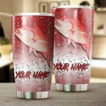 Personalized Red Snapper Fishing Skin Customize name Tumbler Cup Personalized Fishing gift for fisherman - Tumbler 20oz