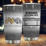 Weimaraner Facts Stainless Steel Tumbler Cup | Travel Mug | Colorful - Tumbler 20oz