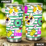 Wales Corgi So Cute Stainless Steel Tumbler Cup | Travel Mug | Colorful - Tumbler 20oz