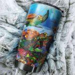 Turtle Stainless Steel Tumbler Cup | Travel Mug | Colorful - Tumbler 20oz