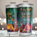 To My Wife Stainless Steel Tumbler Cup | Travel Mug | Colorful - Tumbler 20oz