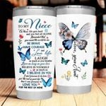 To My Niece From Aunt Stainless Steel Tumbler Cup | Travel Mug | Colorful - Tumbler 20oz