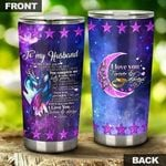 To My Husband Stainless Steel Tumbler Cup   Travel Mug   Colorful - Tumbler 20oz