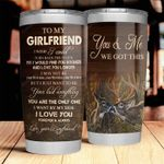 To My Girlfriend From Boyfriend Stainless Steel Tumbler Cup | Travel Mug | Colorful - Tumbler 20oz