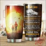 To My Dad From Your Son Stainless Steel Tumbler Cup | Travel Mug | Colorful - Tumbler 20oz