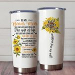 To My Bonus Mom Stainless Steel Tumbler Cup | Travel Mug | Colorful - Tumbler 20oz