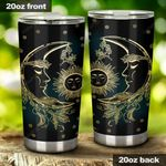 Sun And Moon Stainless Steel Tumbler Cup | Travel Mug | Colorful - Tumbler 20oz