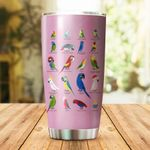 Parrot Stainless Steel Tumbler Cup | Travel Mug | Colorful - Tumbler 20oz