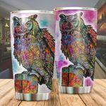 Owl Stainless Steel Tumbler Cup | Travel Mug | Colorful - Tumbler 20oz