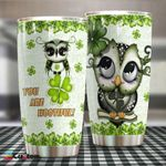 Owl And Irish Stainless Steel Tumbler Cup | Travel Mug | Colorful - Tumbler 20oz
