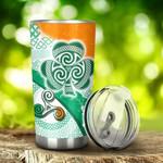 Ireland Shamrock With Celtic Patterns Irish St. Patrick's Day Stainless Steel Tumbler Cup | Travel Mug | Colorful - Tumbler 20oz