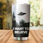 I Want To Believe Stainless Steel Tumbler Cup | Travel Mug | Colorful - Tumbler 20oz