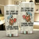 I Read Books I Drink Coffe Stainless Steel Tumbler Cup | Travel Mug | Colorful - Tumbler 20oz