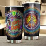 Hippie Peace Love Stainless Steel Tumbler Cup | Travel Mug | Colorful - Tumbler 20oz
