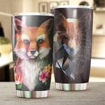 Fox Limited Edition Stainless Steel Tumbler Cup | Travel Mug | Colorful - Tumbler 20oz