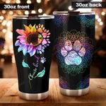Flower Stainless Steel Tumbler Cup   Travel Mug   Colorful - Tumbler 20oz
