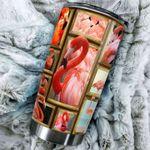 Flamingo Stainless Steel Tumbler Cup | Travel Mug | Colorful - Tumbler 20oz
