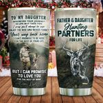 Father And Daughter Hunting Partners For Life Stainless Steel Tumbler Cup | Travel Mug | Colorful - Tumbler 20oz