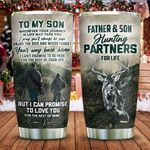 Father And Son Hunting Partners For Life Stainless Steel Tumbler Cup | Travel Mug | Colorful - Tumbler 20oz