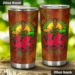 Dragon Stainless Steel Tumbler Cup   Travel Mug   Colorful - Tumbler 20oz