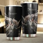 Dragon & Dungeon Tattoo Stainless Steel Tumbler Cup   Travel Mug   Colorful - Tumbler 20oz
