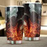 Dragon & Dungeon Tattoo Stainless Steel Tumbler Cup | Travel Mug | Colorful - Tumbler 20oz