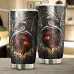 Dragon & Dungeon Tattoo Stainless Steel Tumbler Cup | Travel Mug | Colorful - Tumbler 20oz