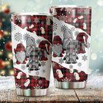 Christmas Tartan Gnome Stainless Steel Tumbler Cup | Travel Mug | Colorful - Tumbler 20oz