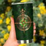 Celtic Irish Compass And Shamrock Irish St. Patrick's Day Stainless Steel Tumbler Cup | Travel Mug | Colorful - Tumbler 20oz