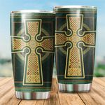 Celtic Cross Stainless Steel Tumbler Cup | Travel Mug | Colorful - Tumbler 20oz