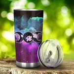 Celtic – Triple Moon Flowers Wicca Stainless Steel Tumbler Cup | Travel Mug | Colorful - Tumbler 20oz