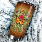 Butterfly Stainless Steel Tumbler Cup | Travel Mug | Colorful - Tumbler 20oz