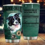 Border Collie Coffee Wakes You Up Stainless Steel Tumbler Cup | Travel Mug | Colorful - Tumbler 20oz