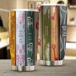 Book Cover Stainless Steel Tumbler Cup | Travel Mug | Colorful - Tumbler 20oz