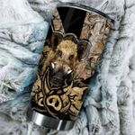 Boar Hunting Stainless Steel Tumbler Cup | Travel Mug | Colorful - Tumbler 20oz